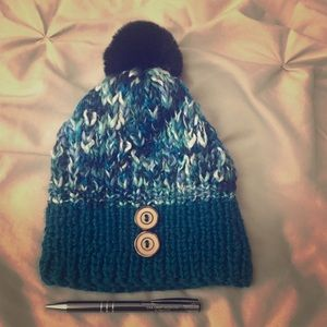 Home made knitted  winter beanie